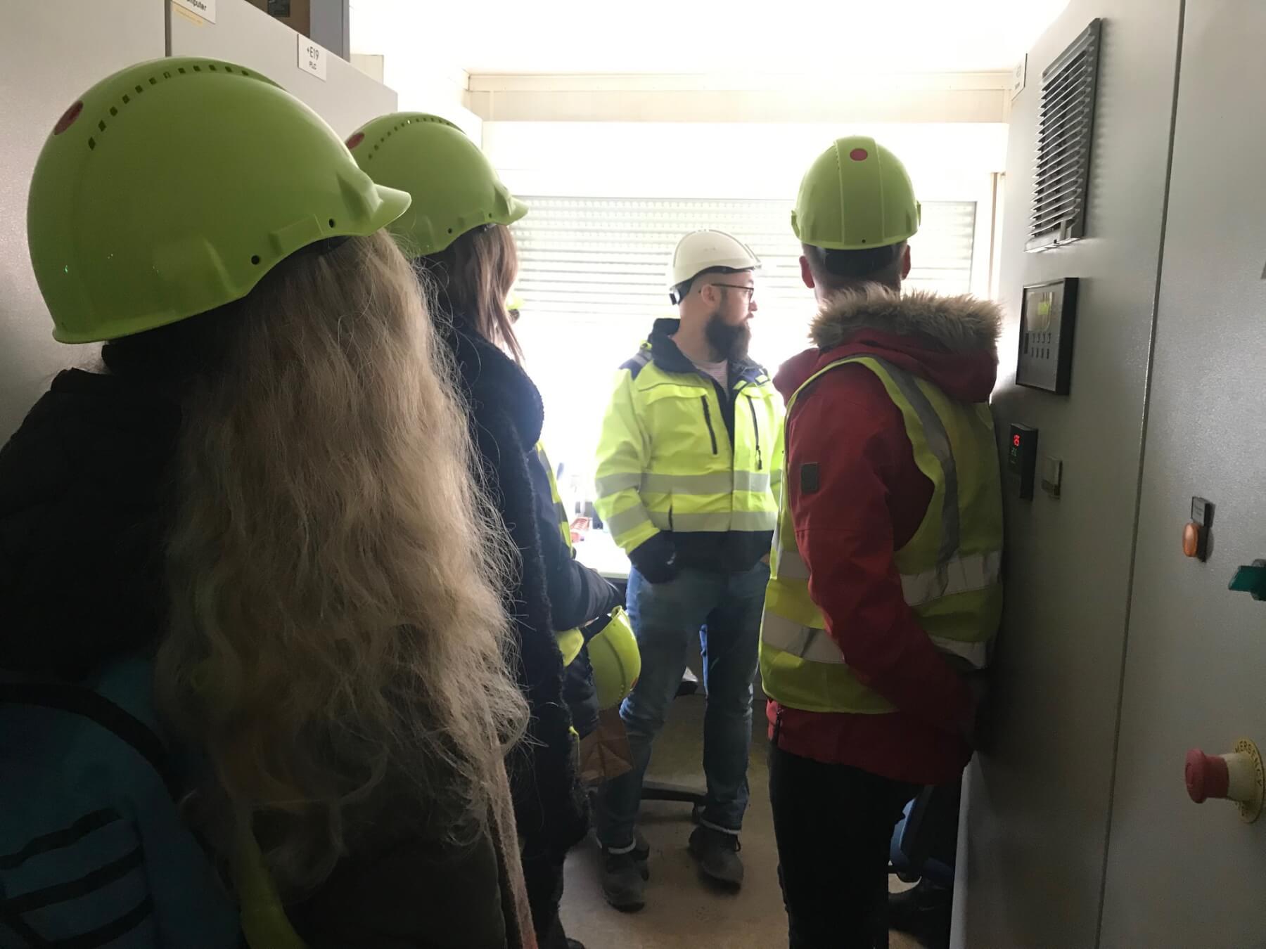 VGTU studentų vizitas Riešės asfaltbetonio gamykloje